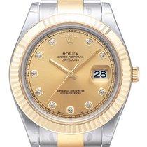 Rolex Datejust II 41mm Edelstahl / Gelbgold 116333 Champ DIA