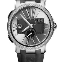 Ulysse Nardin Executive Dual Time Stainless Steel & Diamonds...