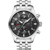 IWC IW377704 Pilots Chronograph 43mm Automatic in Steel - on...