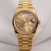Rolex Day-Date 118238 18K Yellow Gold Diamond Dial