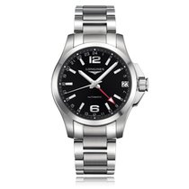 Longines Conquest Steel 41mm Black United Kingdom, Bowness on Windermere