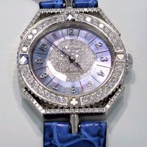 Montega 18k White Gold Factory Diamond Bezel Mother Of Pearl...