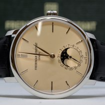 Frederique Constant 42mm Automatic new Manufacture Slimline Moonphase Champagne