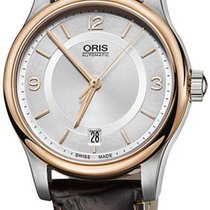 Oris Classic Steel 37mm Silver Arabic numerals United States of America, Texas, FRISCO