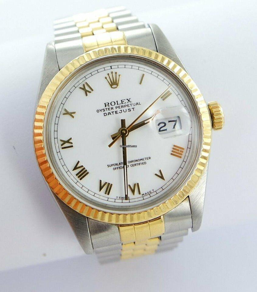 c5f760b657e Vendesi Rolex Datejust Herren Uhr White Dial Stahl/gold Ref.16013 Papiere  per 4.199 € da un Trusted Seller su Chrono24