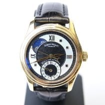 Armand Nicolet S05 Or jaune 33mm Noir Romain
