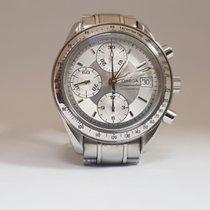 Omega Speedmaster Date Steel 39mm Silver No numerals