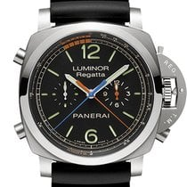 Panerai Luminor 1950 Regatta 3 Days Chrono Flyback pre-owned 47mm Black Chronograph Flyback Rubber