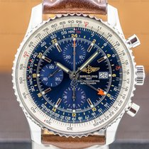 Breitling Navitimer World Steel 46mm Blue Arabic numerals United States of America, Massachusetts, Boston