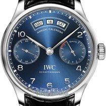 IWC Portuguese Annual Calendar Steel 44.2mm Blue
