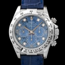 Rolex Daytona 16519 In White Gold With Sodalite Diamond Dial