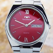 Technos Luxury Stainless Steel 35mm Quartz 1980s Swiss Made...