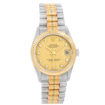 Rolex Chronometer 31mm Automatic 1989 pre-owned Datejust (Submodel) Champagne