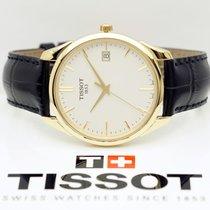 티쏘T-Touch Expert Solar,새 시계/미 사용,정품 박스 있음, 서류 원본 있음,40 mm,옐로우골드