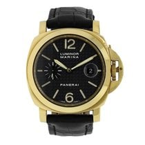 Panerai Luminor Marina Automatic pre-owned 44mm Yellow gold