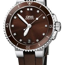 Oris Steel Automatic Brown 36mm new Aquis Date