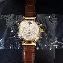 IWC Chronographe 39mm Remontage automatique 2002 nouveau Da Vinci Perpetual Calendar Blanc