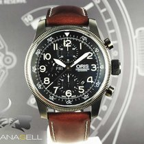 Oris Big Crown Timer Steel Black Arabic numerals
