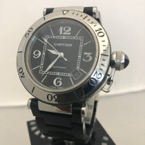 Cartier Pasha Seatimer Steel 40mm Black Arabic numerals