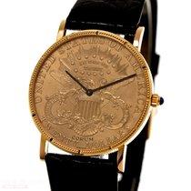 Corum Coin Watch Жёлтое золото 35mm Золотой Без цифр