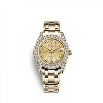 Rolex Pearlmaster Желтое золото 34mm Цвета шампань