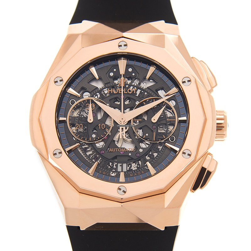 Hublot Classic Fusion 18kt Rose Gold Transparent Skull Automatic  525 OX 0180 RX ORL18