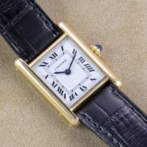 Cartier pre-owned Manual winding 21mm White Sapphire Glass