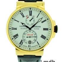 Ulysse Nardin Marine Chronometer Manufacture gebraucht Datum Jahresanzeige Krokodilleder