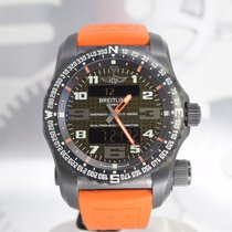 Breitling Emergency pre-owned 52mm Grey Chronograph Rubber