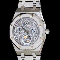 Audemars Piguet Platinum Automatic Silver 40mm pre-owned Royal Oak Perpetual Calendar