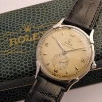 Rolex Oyster Precision Steel 35mm Silver Arabic numerals