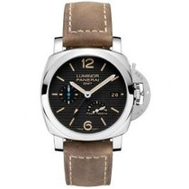 Panerai Luminor 1950 3 Days GMT Power Reserve Automatic Steel 42mm Black Arabic numerals United States of America, Pennsylvania, Holland