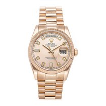 Rolex 118235 Rose gold Day-Date 36 36mm pre-owned United States of America, Pennsylvania, Bala Cynwyd