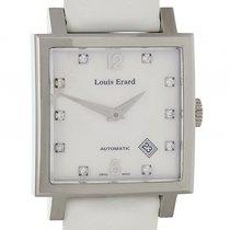 Louis Erard La Carre Date Stahl Diamond Perlmutt 35x35mm