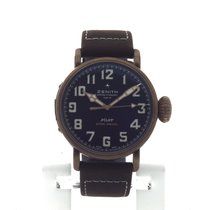 Zenith Pilot Type 20 Extra Special Bronce 45mm Plata Romanos