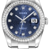 Rolex Datejust 36mm Stainless Steel 116244 Jubilee Blue...
