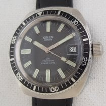 Gruen Rare diver 37mm year 1973 Precision Power Date quickset