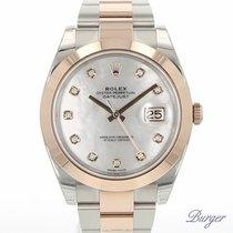 Rolex Datejust 41 Rolesor Everose MOP Dial Diamonds NEW