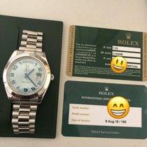 Rolex Day-Date II / President II Platinum Black Dial 41mm