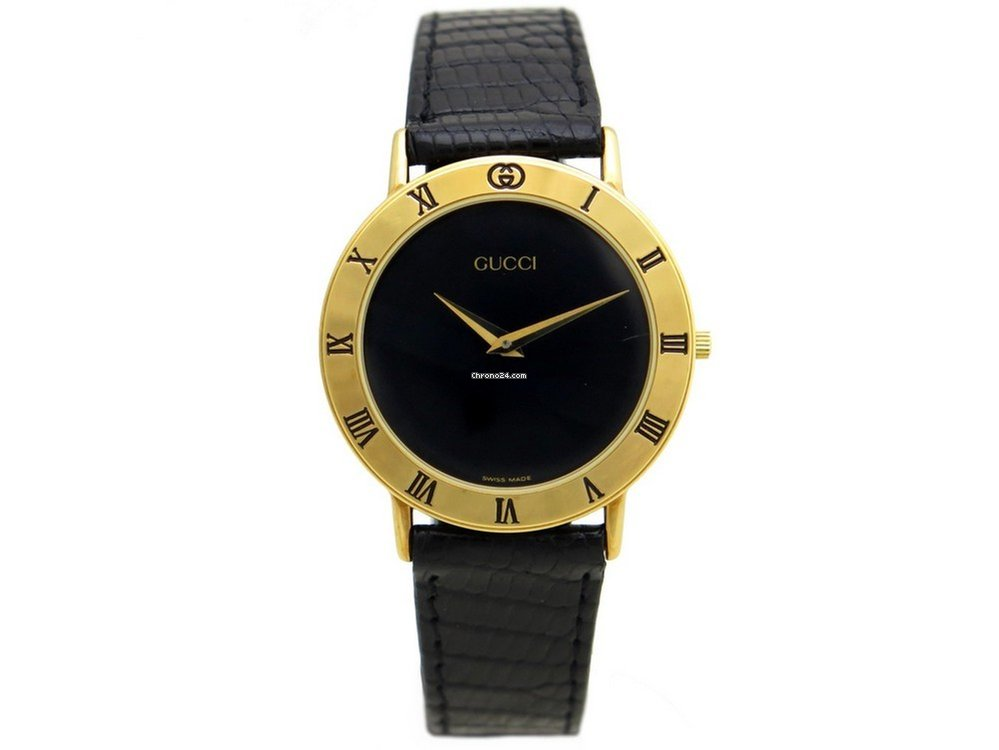 159065d8828 Gucci vintage montre gucci 3000.2.m 33 mm quartz metal cuir... for  628 for  sale from a Trusted Seller on Chrono24