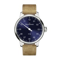 Meistersinger N° 01 Steel 43mm Blue Arabic numerals
