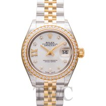 Rolex Lady-Datejust Or jaune 28mm Argent