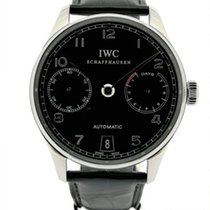 IWC Steel Automatic Black pre-owned Portuguese Automatic