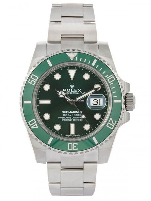 Los Angeles 9c300 32068 Rolex Submariner Date Verde Hulk Nos 40mm In Acciaio Ref. 116610lv
