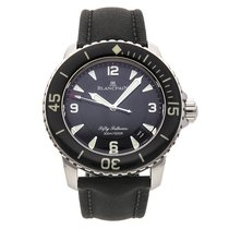 Blancpain 45mm Automatic pre-owned Fifty Fathoms (Submodel) Black