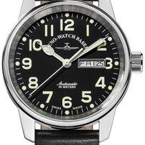 Zeno-Watch Basel Stahl 40mm Automatik 6554DD-a1 neu
