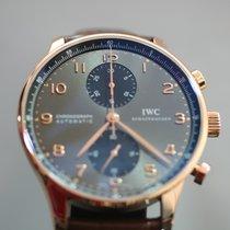 IWC Ouro rosa Automático Cinzento Árabes 40.9mm usado Portuguese Chronograph