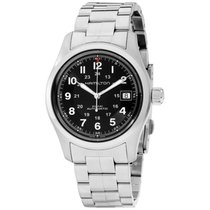 Hamilton Khaki Field Steel 38mm Black Arabic numerals