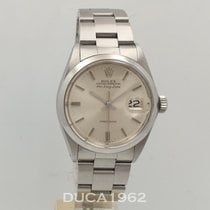 Rolex Air King Date Stal 34mm Srebrny Bez cyfr