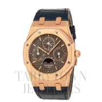 Audemars Piguet Royal Oak Perpetual Calendar Rose gold 39mm Brown United States of America, New York, Hartsdale